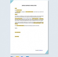 Service Contract Offer Letter