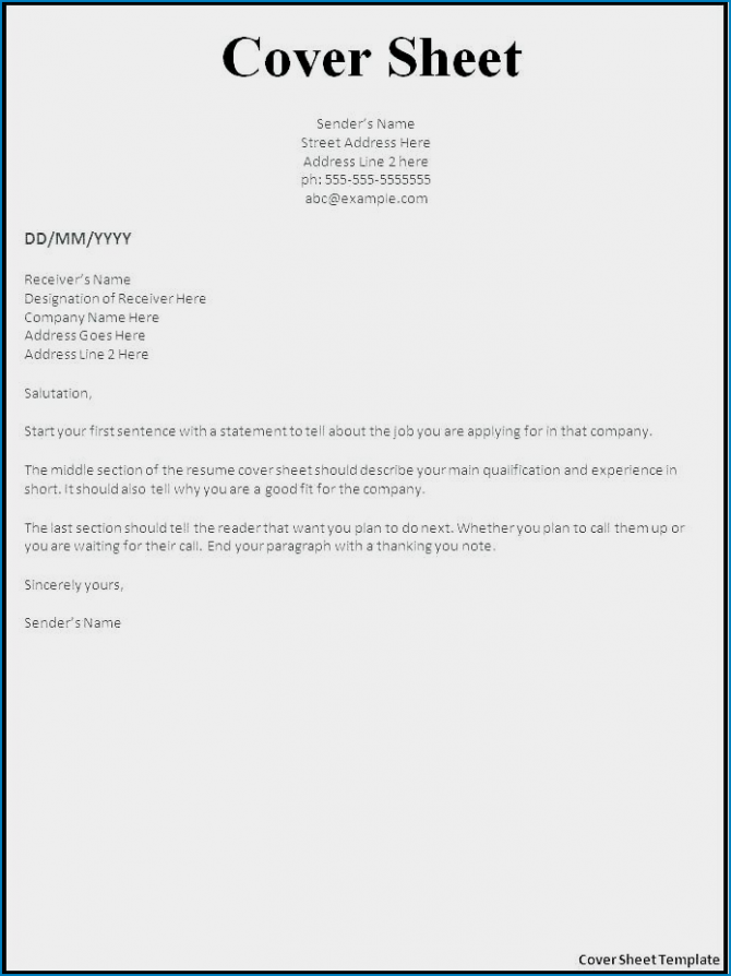 Free Simple Resume Cover Letter Template