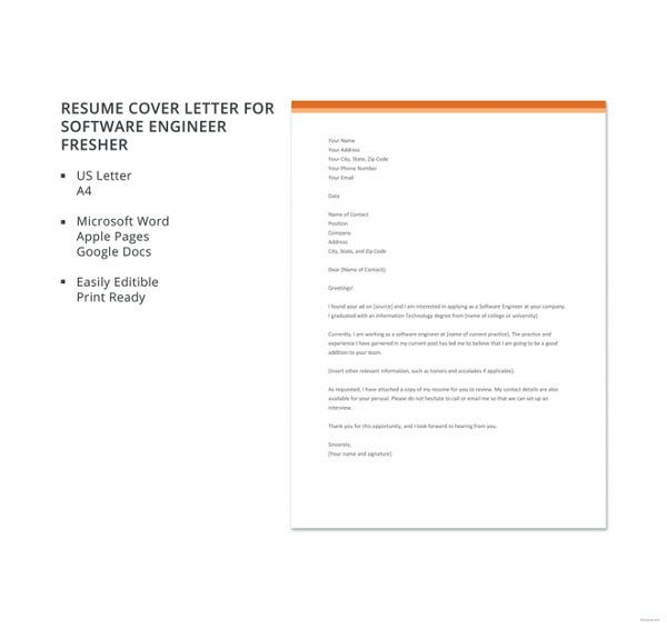 Free Software Developer Cover Letter Templates