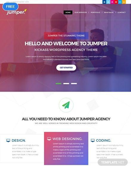 Free Web Design Agency Htmlcss Website