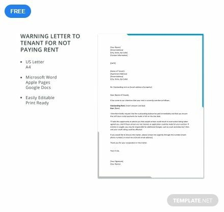 Get This Warning Letter To Tenants For Not Paying Rent As A Free