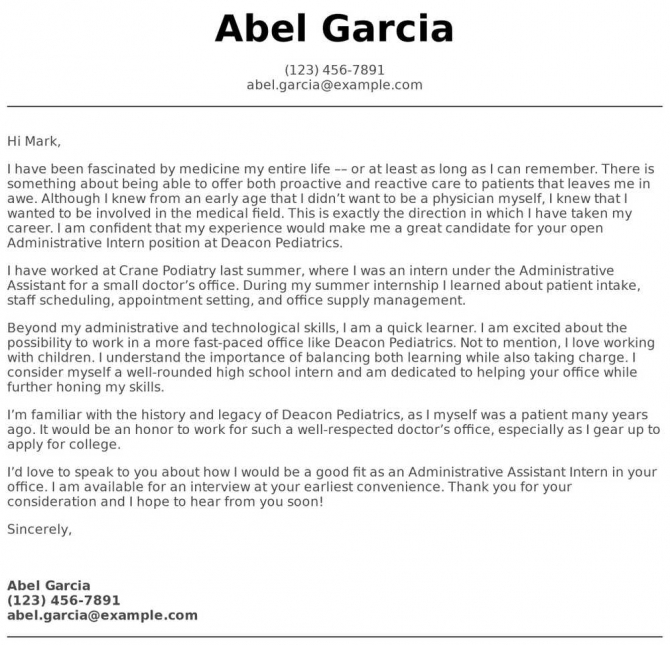 High School Student Cover Letter Examples  Samples   Templates