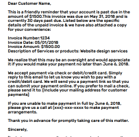 Email To Client For Not Making Payment