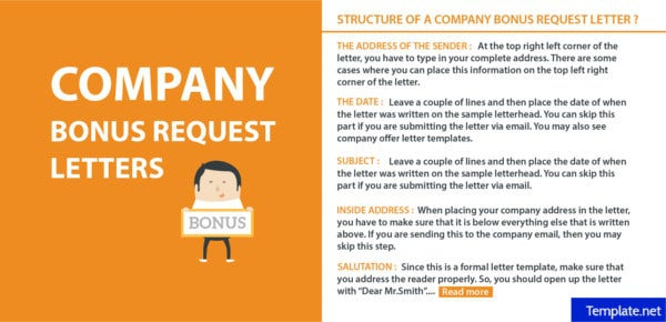 How To Write A Company Bonus Request Letter