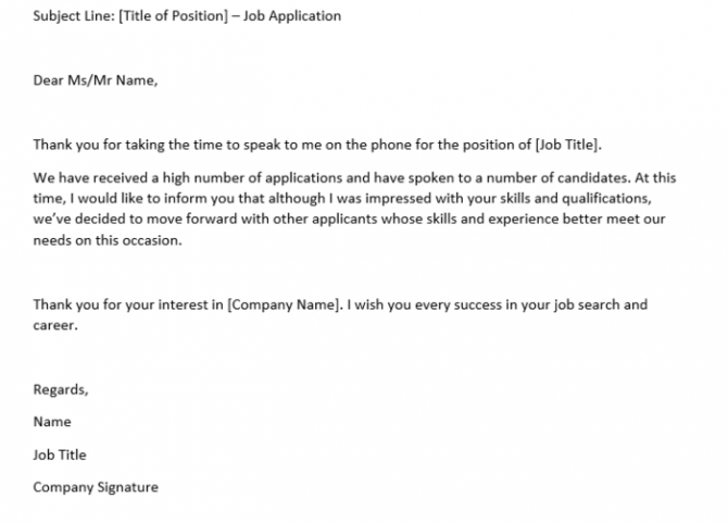 How To Write A Rejection Letter After An Interview  Samples