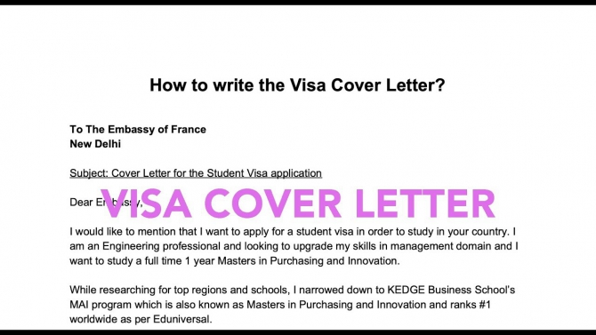 How To Write A Visa Cover Letter Student Long Stay