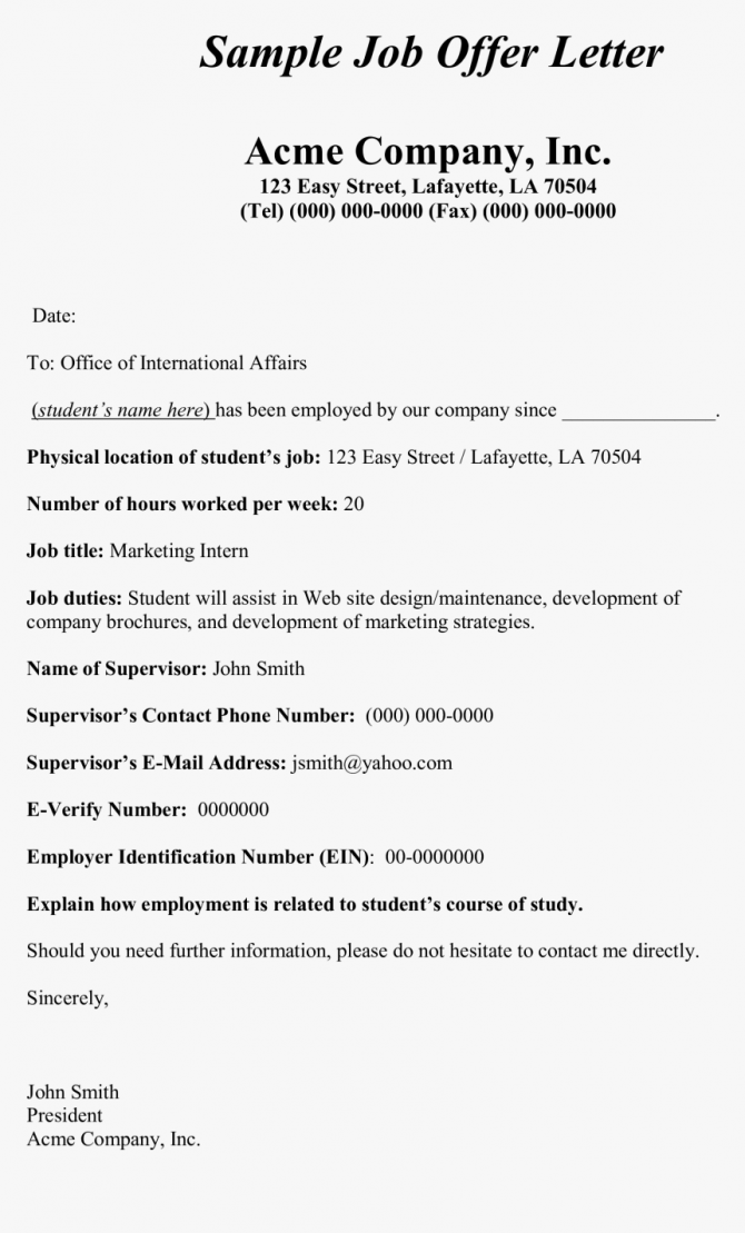 Internship Offer Letter Unpaid  Hd Png Download   Transparent Png