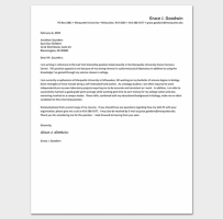 Internship Request Letter