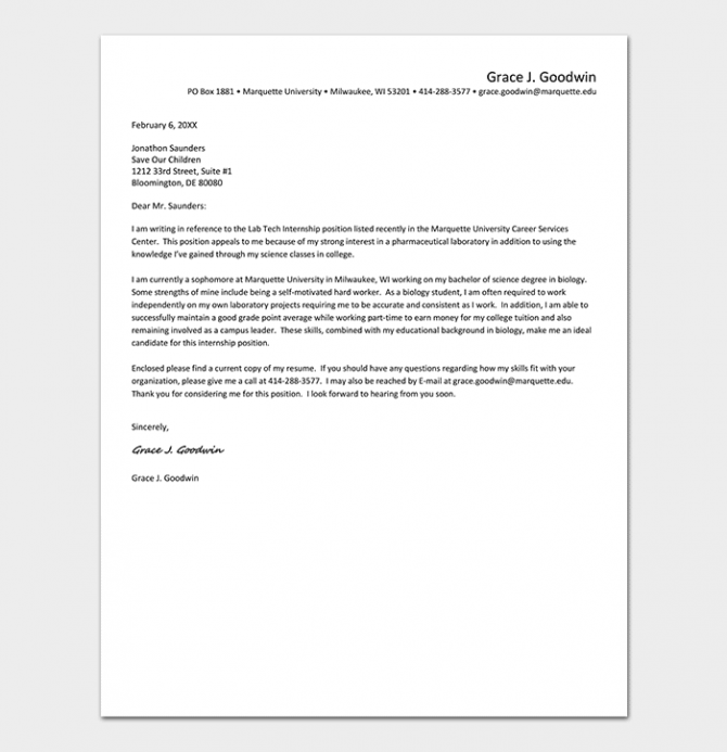 Internship Request Letter How To Write With Format   Sample Letters