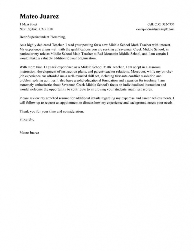 Leading Professional Teacher Cover Letter Examples   Resources