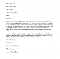 Request Letter For Leave