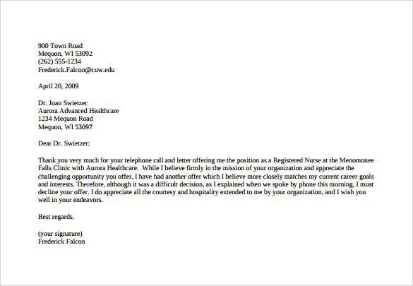 Mallainjulien Sample Offer Letters Bfcc Resumesample Resumefor