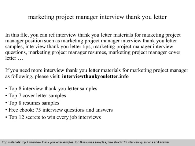 Marketing Project Manager
