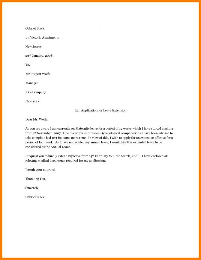 Maternity Leave Letter Sampleternity Employer Appeal Letters