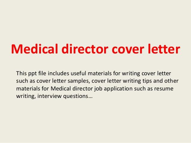 Medical Director Cover Letter