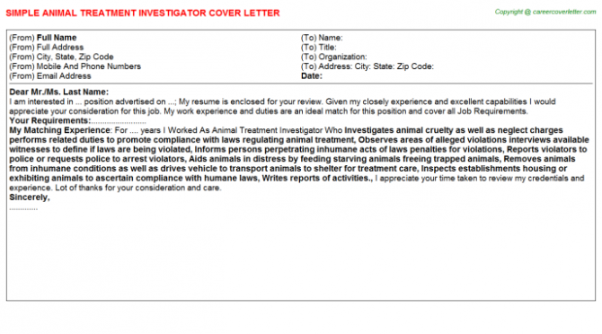 Medical Investigator Cover Letters