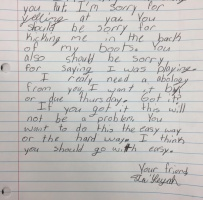 Apology Letter To Teacher From Student