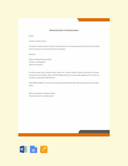 Notarized Letter Templates