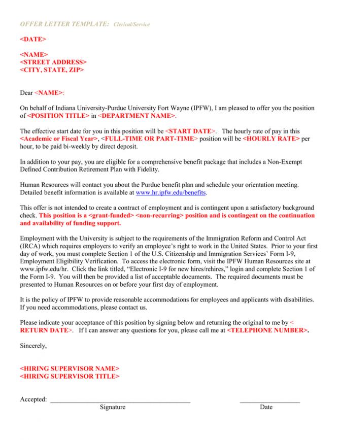 Offer Letter Template  Ltdate Gt  Ltname Gt