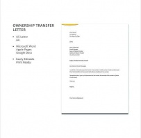 Letter Of Transfer Of Ownership Of Business