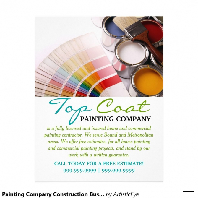 Painting Company Construction Business Flyer