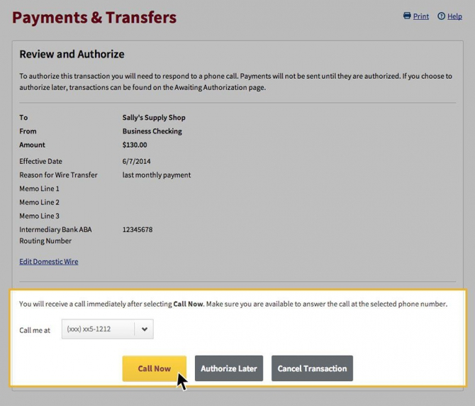 Payments   Transfers Demo