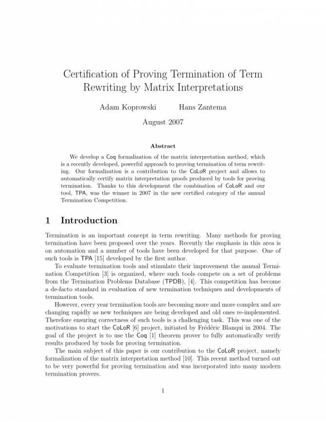 Pdf Certification Of Proving Termination Of Term Rewriting By