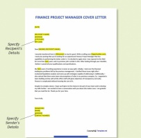 Finance Project Manager Cover Letter