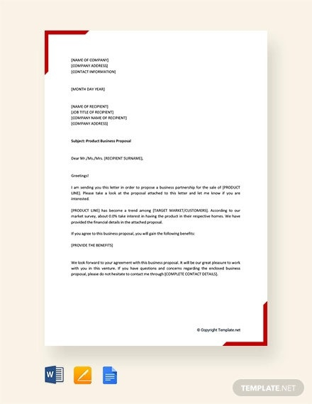 Product Business Proposal Templates