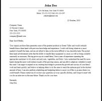 Agriculturist Resume Cover Letter