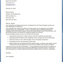 Hospital Project Manager Cover Letter
