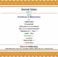Authorship Certificate
