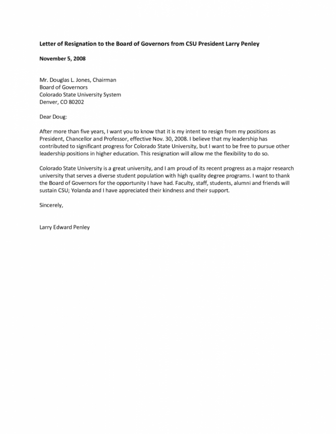 Resign From Board Of Directors Letter Barethouseofstraussco Board