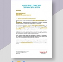 Restaurant Employee Termination Letter