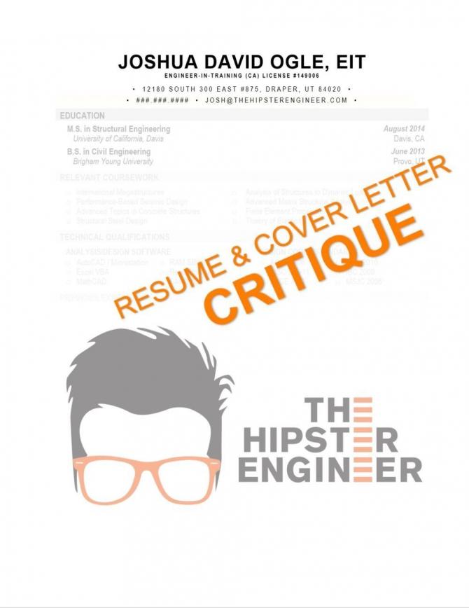 Resume   Cover Letter Critique