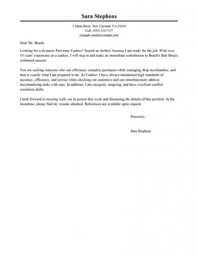 Retail Cashiers Cover Letters Tips To Write