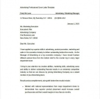 Advertising Sales Executive Manager Cover Letter