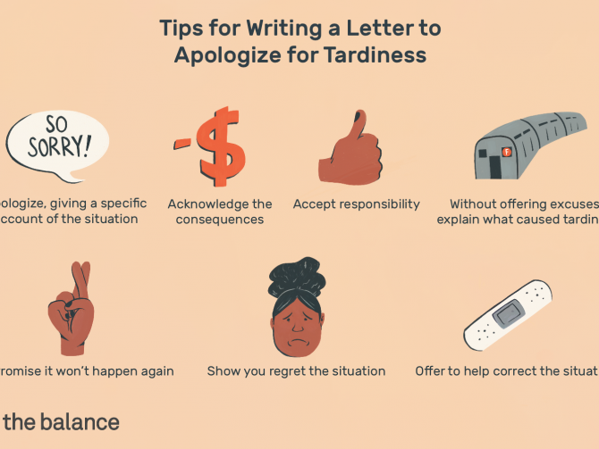 Sample Apology Letter For Being Late