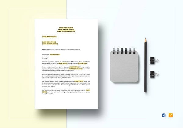 Sample Apology Letter Templates