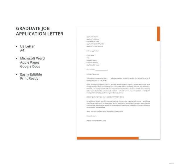 Sample Job Application Letters For Fresher Graduates