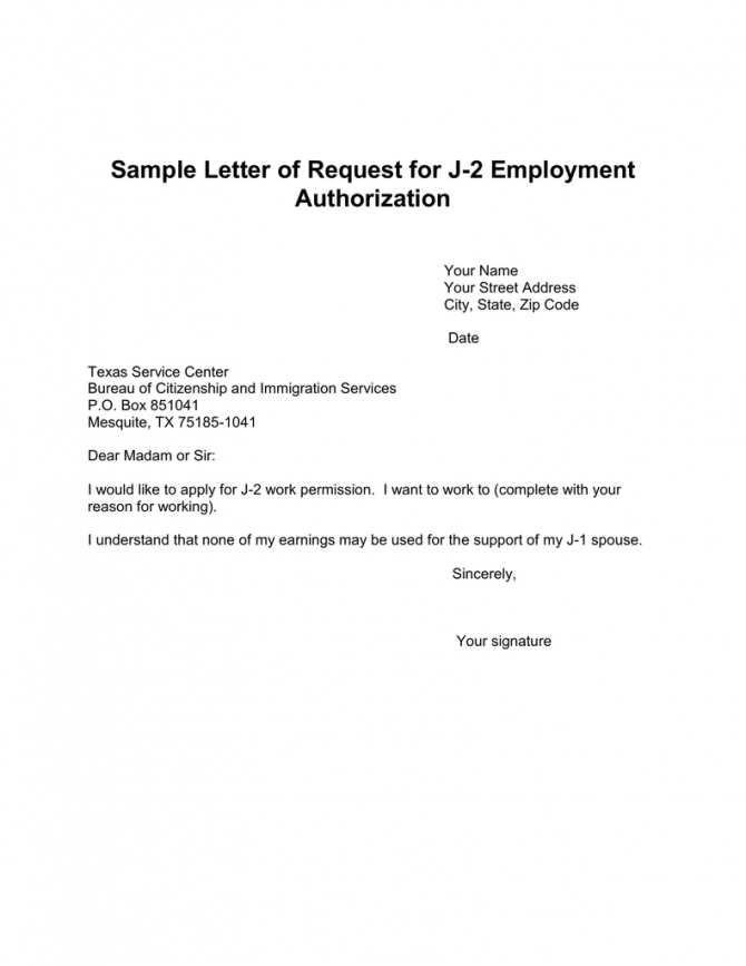 Sample Letter Of Request For J