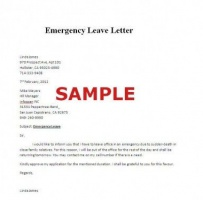Emergency Leave Letter