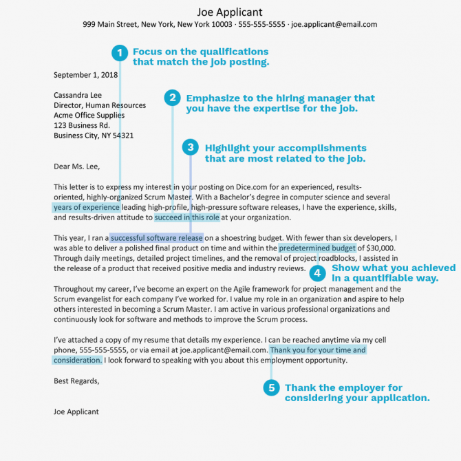Scrum Master Cover Letter And Resume Examples