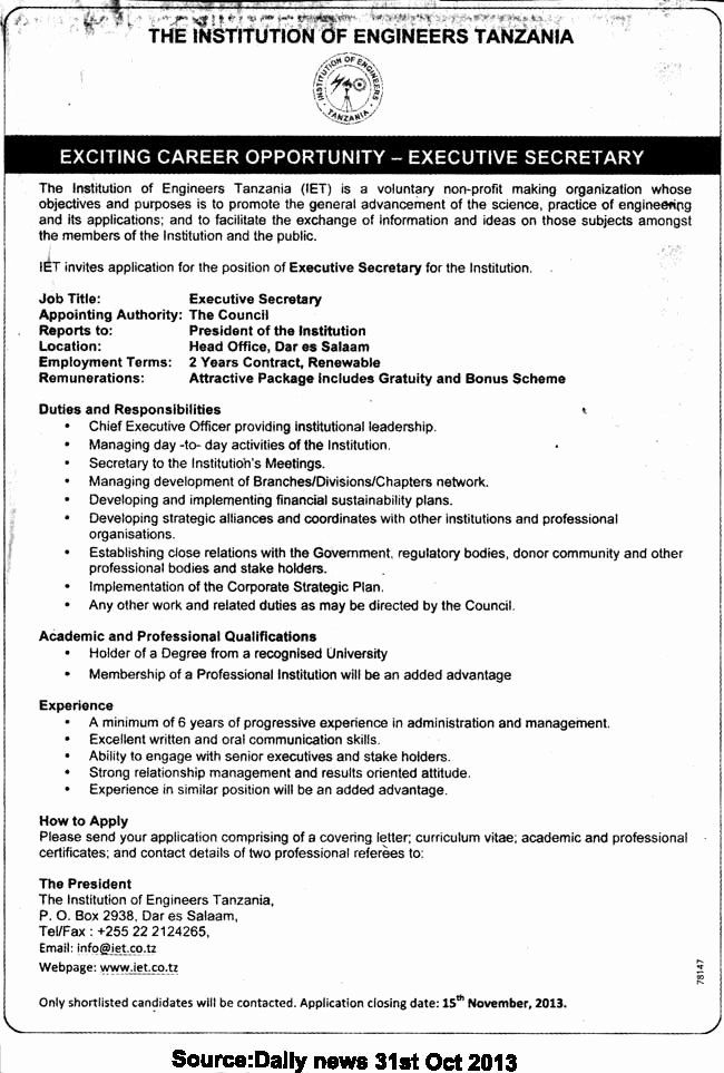 Secretary Job Description Resume Awesome Executive Secretary The