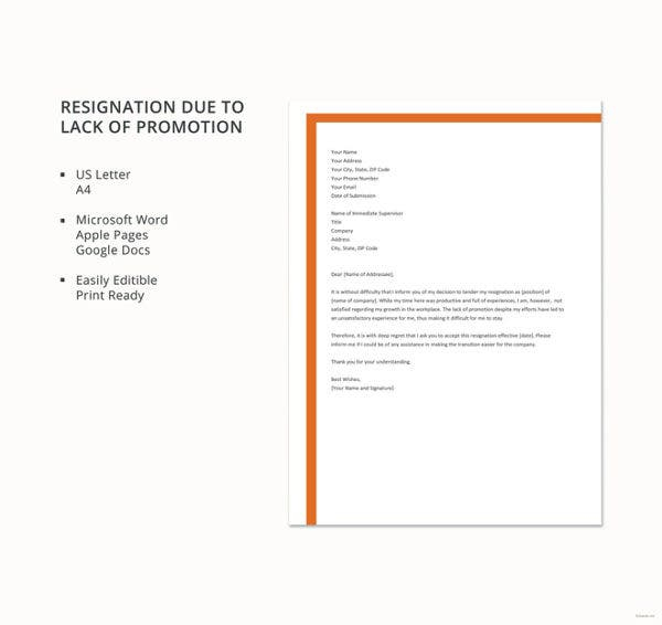 Short Resignation Letter Templates