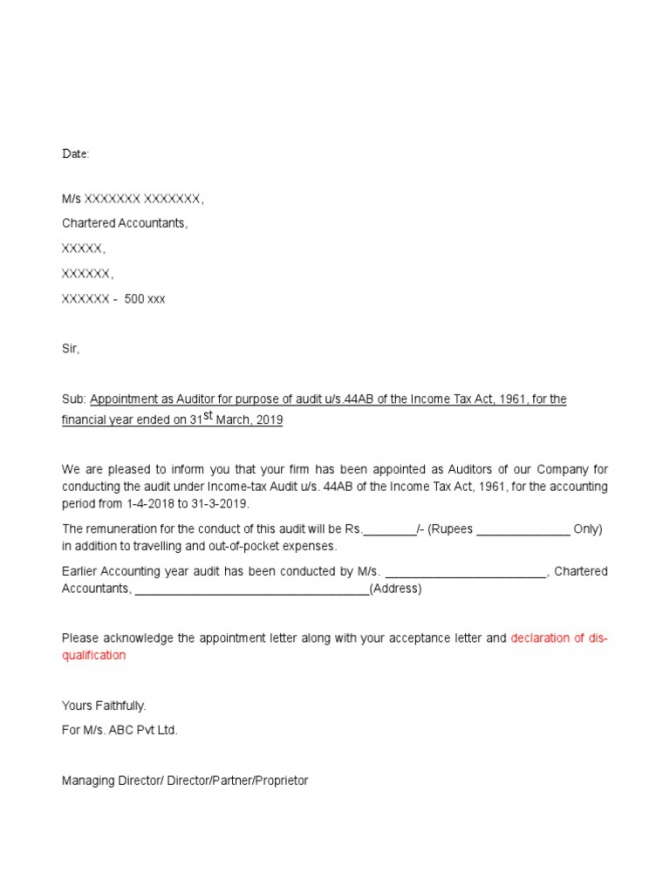 Tax Auditor Appointment Letterdocx