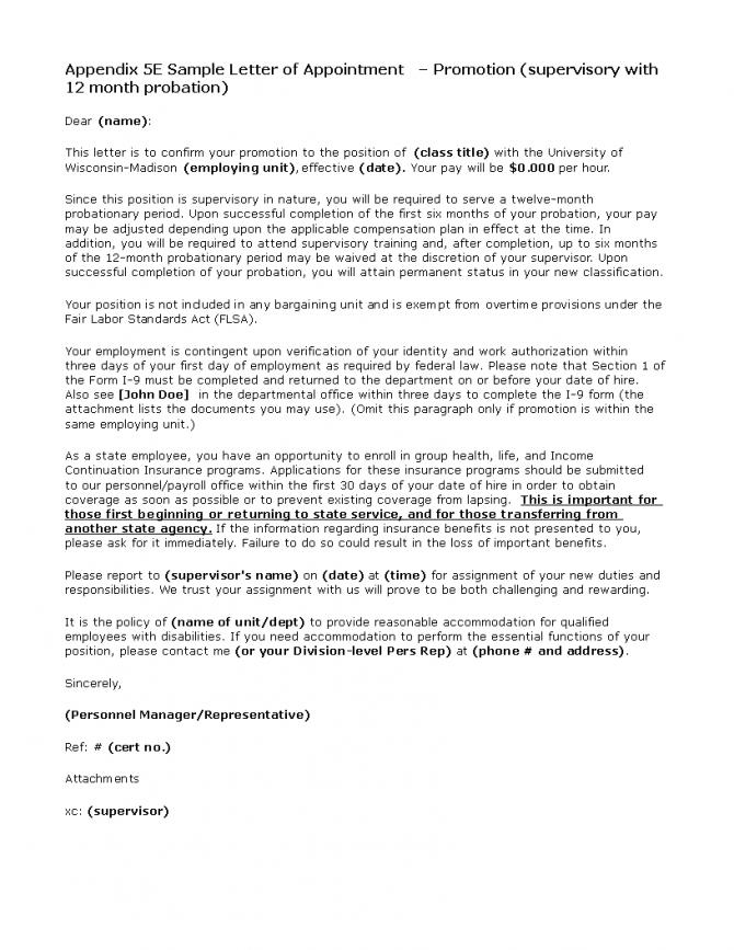 Teacher Promotion Letter