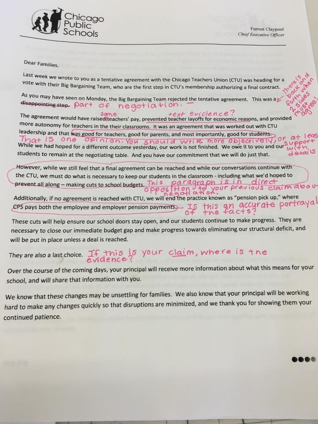Teachers Union Calls Out Cps Lies In Letter To Parents