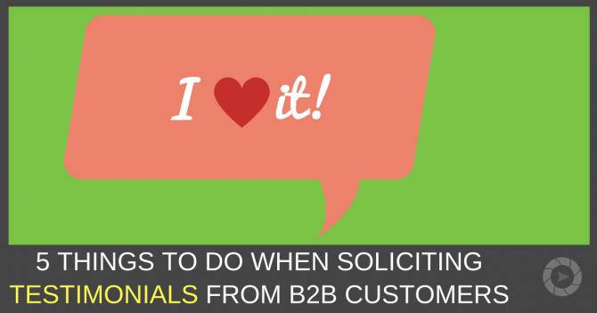 Things To Do When Soliciting Testimonials From Bb Customers