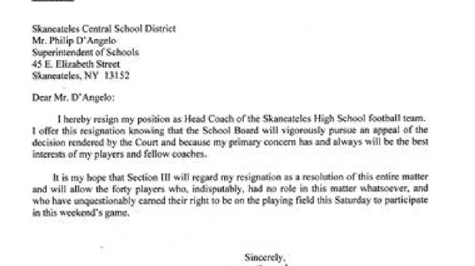 Tim Green Resigns As Skaneateles Football Coach
